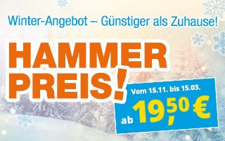 3 Tage Ferien ab 39 Euro!