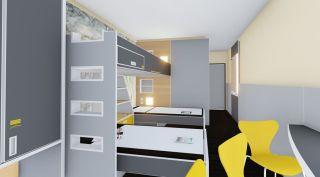 Zimmer der neuen Jugendherberge Saarburg